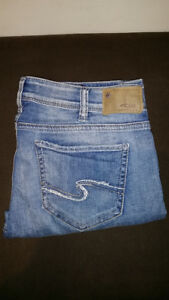 Silver & Co stone wash ripped detail women's jeans size 30