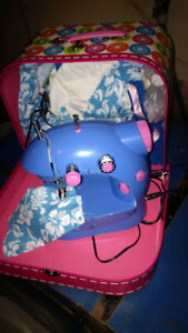 Child's sewing machine and case
