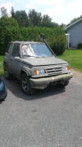 Suzuki sidekick 1998 manuel 4x4 pas plaquable 500