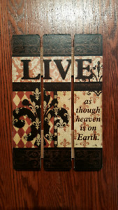 Wooden Quote Wall Decor