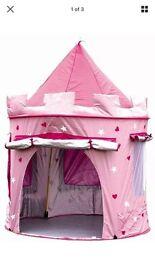 Kiddyplay deluxe pink pop up castle tent