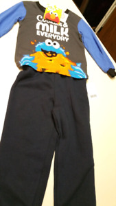 "4T Boys..""Sesame Street,"" pajamas..(2) piece...NEW WITH TAGS"