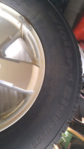 4 winter tires with factory rims off a 2012 ford escape