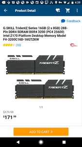 Looking for 16gb(2x8gb) of DDR4 ram