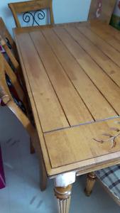 Set de cuisine en bois erable pique