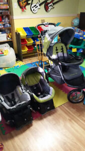 Carosse Jogger BabyTrend + 2 coquilleet 2 base d'auto