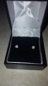 1/4 K Diamond earrings