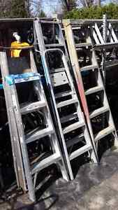 Aluminum ladders ...several sizes