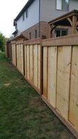 $35 per foot  for 5x5 posts 6ft high Pressure Treated Wood