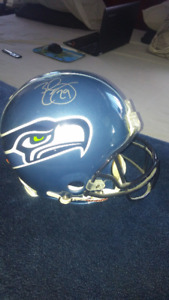 Authentic NFL helmets