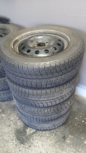 4x100 195/55/R15 Michelin X-Ice Tires and Rims