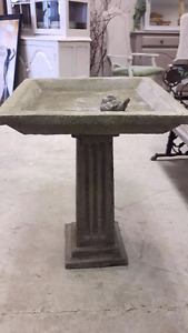 Beautiful Concrete Birdbath