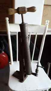 Antique Sevice Station Tire Pump with S Strathcona County Edmonton Area image 3