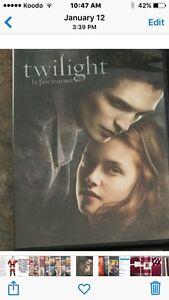ATTENTION TWILIGHT fans!!!!  4 dvd's under $5 each