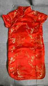 Beautiful Girl's Asian Style Dress- Size 5/6