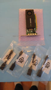 Nvidia Quadro K1200 neuves avec connecteurs