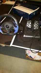 Old school Racing steering wheel for ps2 , Xbox, game cube, Pc