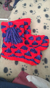 Hand knitted slipper boots  Adults