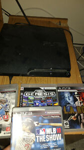 PS3 2 CONTROLLERS, 4 GAMES $150