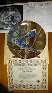 The Blue Jay collector plate