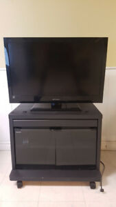 32 inch TV and TV stand for sale