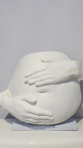 Belly bump plaster casting