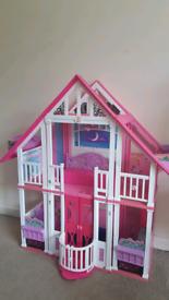 Barbie House, car and jetski