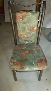 Colored wooden table with 4 matching chairs London Ontario image 1