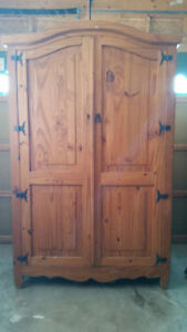 "Rustic Mexican Armoire 78"" x 48"" x 22"