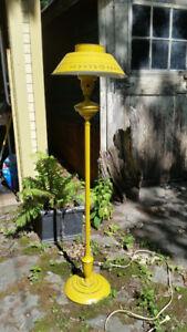 Vintage Mustard Yellow Tole Floor Lamp