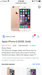 10/10 Condition Gold iPhone 6
