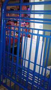 Blue metal single bunkbeds