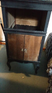 Old phonograph cabinet