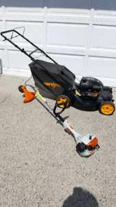 Gas lawn mower and gas trimmer