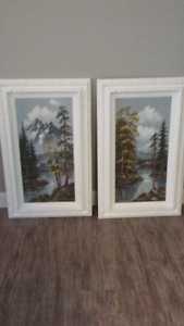 2 vintage oil paintings
