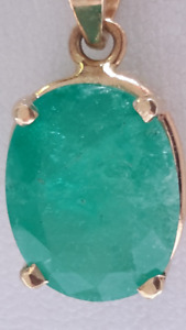 14kt Oval-Shaped Natural Emerald (6.0 Carats)