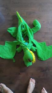 Costume de dragon à bretelles 4 à 6 ans env