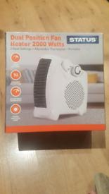 Dual Position Fan Heater Brand New