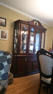Elegant dark wood dinning room set for sale!
