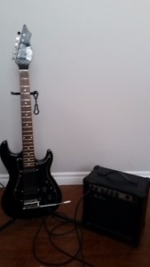 Electric guitar and amp for beginner