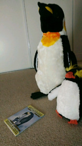 2 penguins, DVD, and Poster (paid $80)