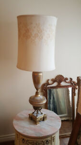 Gold and white marble lamps (2 items)