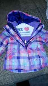 Girls 2T winter jacket with fleece insert