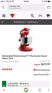 Kitchen aid professional 5 lift mixer