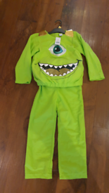 New fab Mike Wazowski monsters Inc Disney costume age 7 - 8 toy/gift