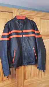 Real leather bikers jacket