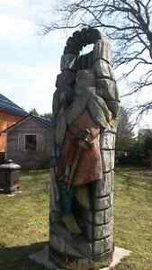 5 tree/wood carvings for sale