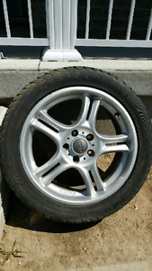 """Zender 17"""" 5x112 summer rims and tires"""