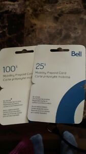 Bell Mobility Prepaid Cards