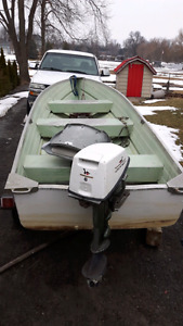 14ft aluminum boat motor and trailer